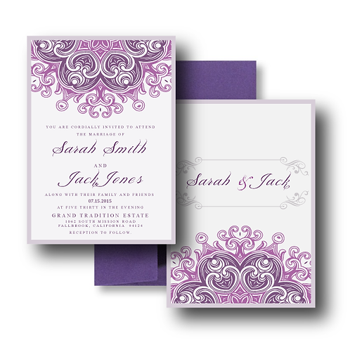 Lovely Lace Standard Invitation + Envelope