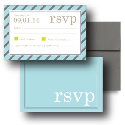 Pleasingly Preppy RSVP + Envelope