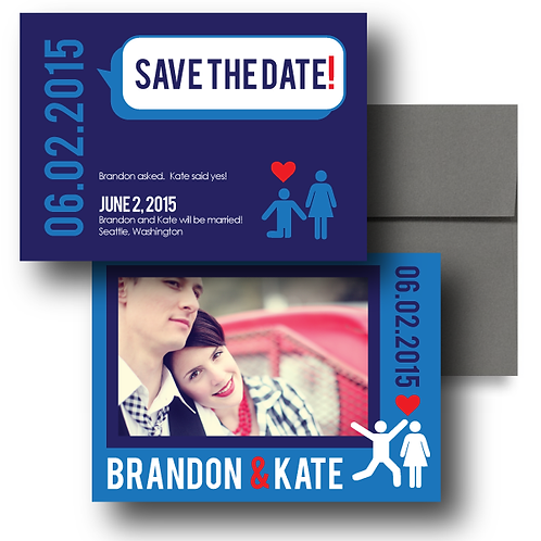 That's What She Said Save the Date + Envelope
