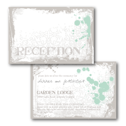 Splash of Awesome Reception / Ceremony Card