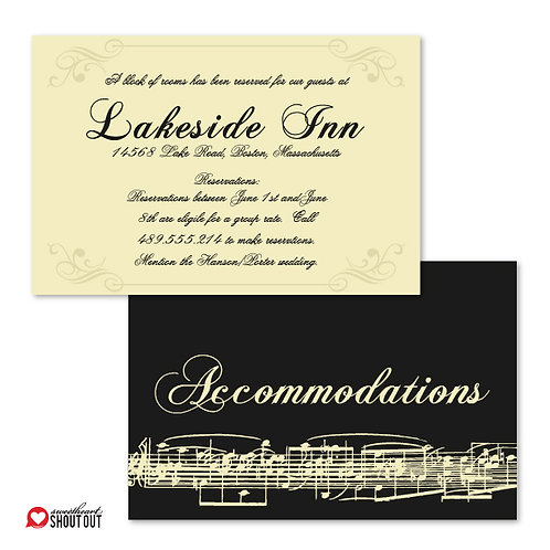 Love Orchestrated Accommodations / Info Card