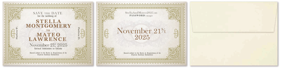 Harry Potter Save the Date