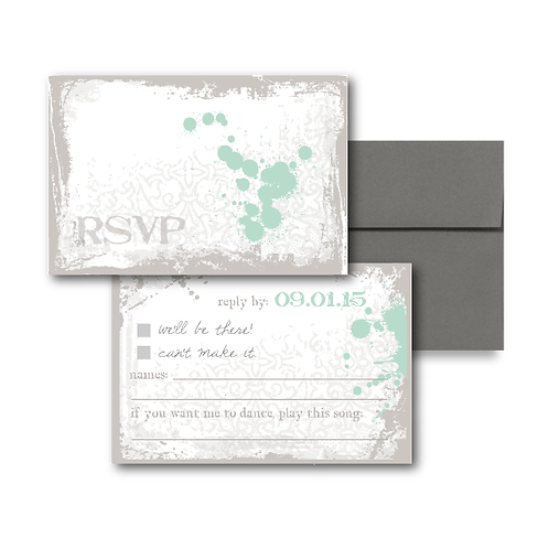 Splash of Awesome RSVP + Envelope