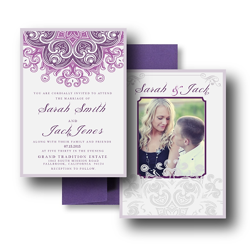 Lovely Lace Photo Invitation + Envelope