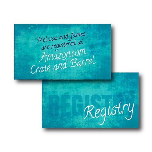 Colorful Canvas Registry Card