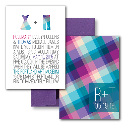 Rad in Plaid Standard Invitation + Envelope