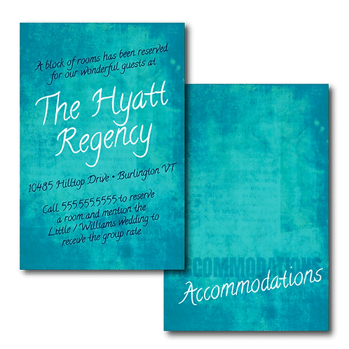 Colorful Canvas Accommodations / Info Card