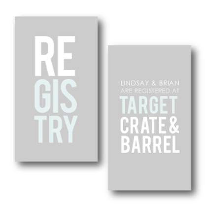 Poster Perfect Registry Card