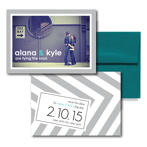 City Stripe Save the Date + Envelope