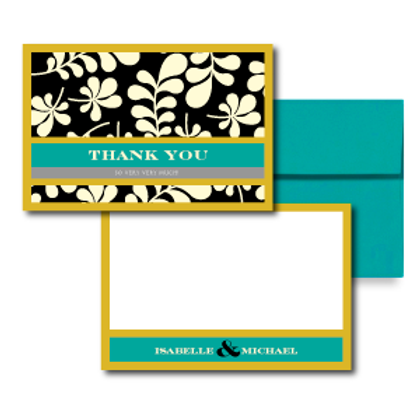 The Darcy Flat Thank You Note Card + Envelope
