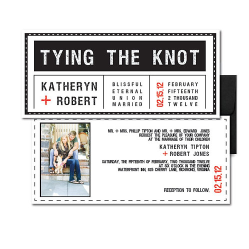 Tag, You're it! Photo Invitation + Envelope