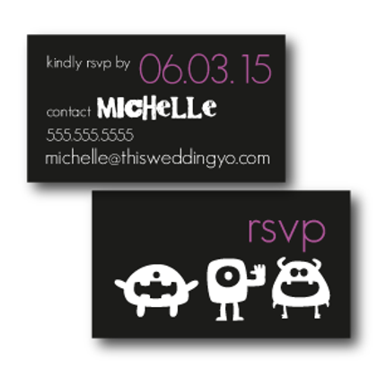Out of This World Phone/Email RSVP Insert Card
