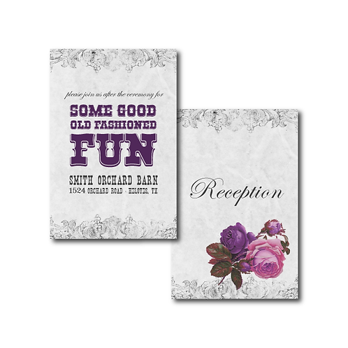 Spanish Rose Reception / Ceremony Card