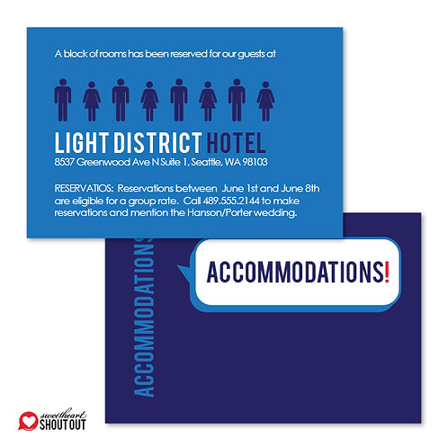 That's What She Said Accommodations / Info Card