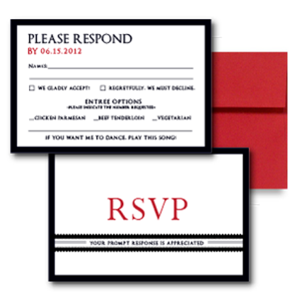 Our Love Story RSVP + Envelope