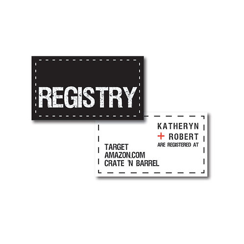 Tag, You're it! Registry Card