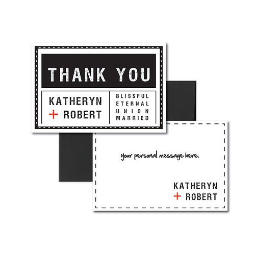 Tag, You're it! Flat Thank You Note Card + Envelope