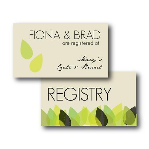 New Leaf Registry Card