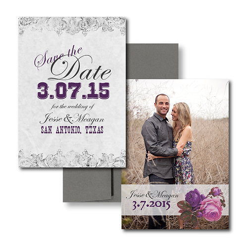 Spanish Rose Save the Date + Envelope