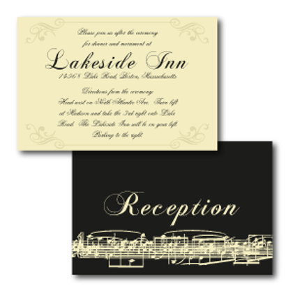 Love Orchestrated Reception / Ceremony Card