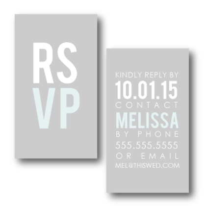 Poster Perfect Phone/Email RSVP Insert Card