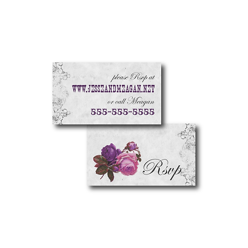 Spanish Rose Phone/Email RSVP Insert Card