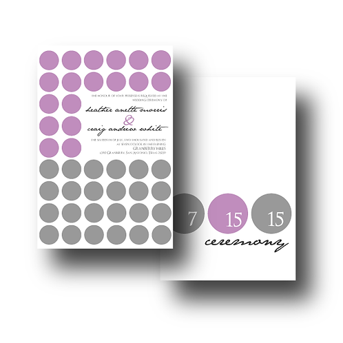 Hot Dots Reception / Ceremony Card