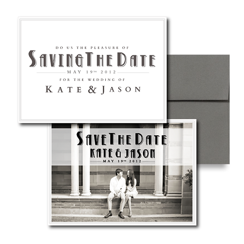 Love is a Two Seater Save the Date + Envelope