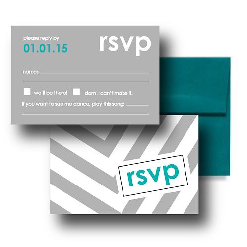 City Stripe RSVP + Envelope