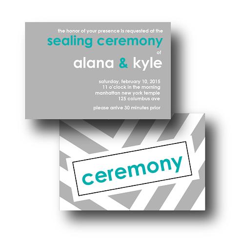 City Stripe Reception / Ceremony Card