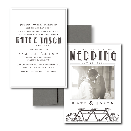 Love is a Two Seater Photo Invitation + Envelope