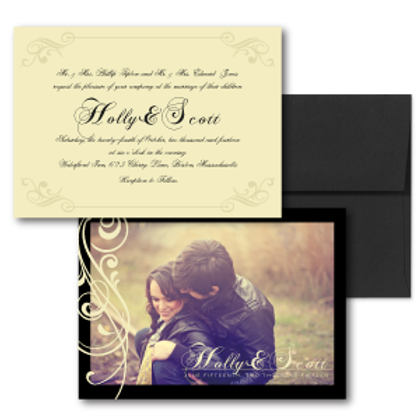 Love Orchestrated Photo Invitation + Envelope