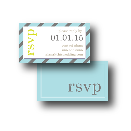 Pleasingly Preppy Phone/Email RSVP Insert Card