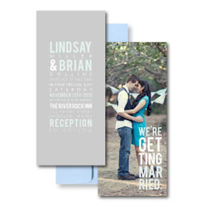 Poster Perfect Photo Invitation + Envelope