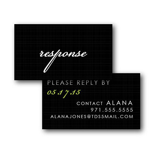 Flourish of the Pen Phone/Email RSVP Insert Card
