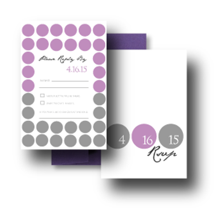Hot Dots RSVP + Envelope