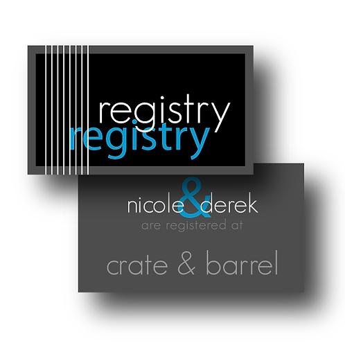 Black Tie Registry Card