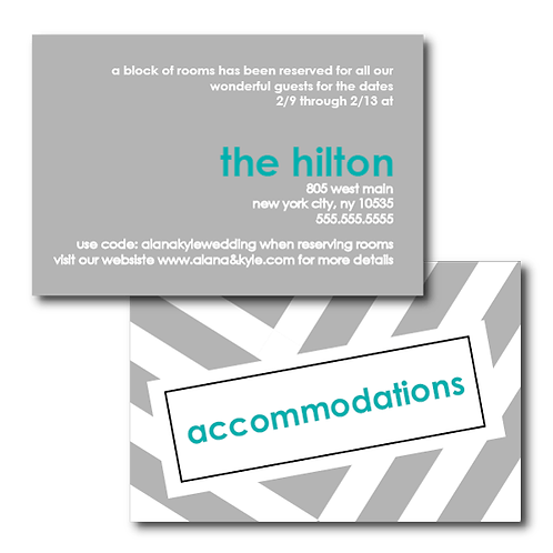 City Stripe Accommodations / Info Card