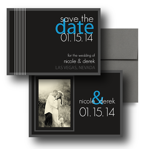 Black Tie Save the Date + Envelope