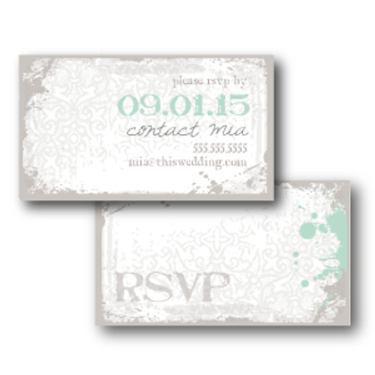 Splash of Awesome Phone/Email RSVP Insert Card