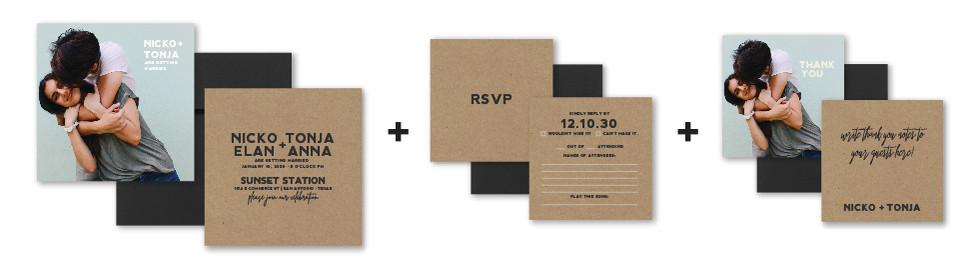 Photo Invitation + RSVP + Thank You