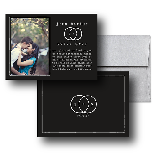 Eternity Stamp Photo Invitation + Envelope