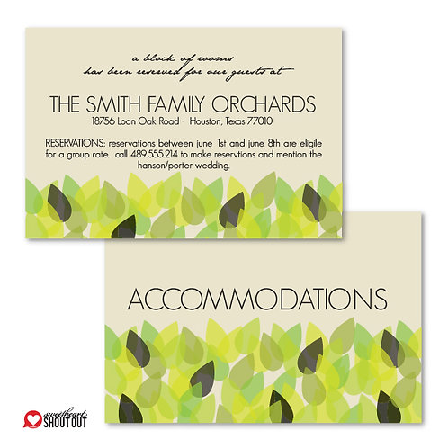 New Leaf Accommodations / Info Card