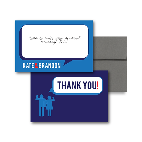 That's What She Said Flat Thank You Note Card + Envelope
