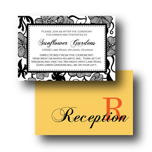 Garden Gala Reception / Ceremony Card