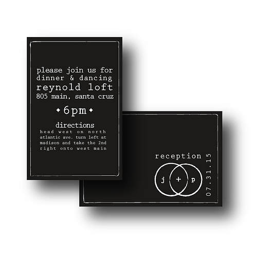 Eternity Stamp Reception / Ceremony Card