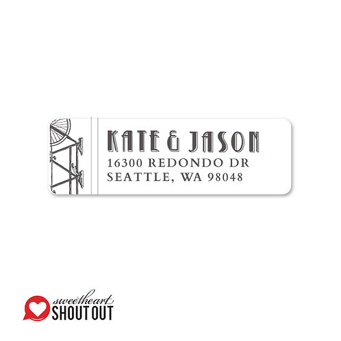 Love is a Two Seater Return Address Labels