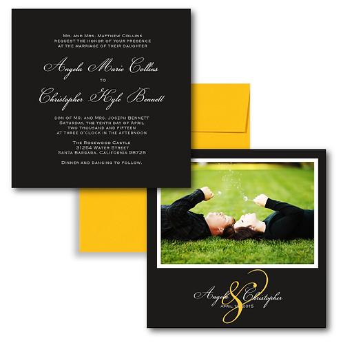 Much Ado About Something Photo Invitation + Envelope