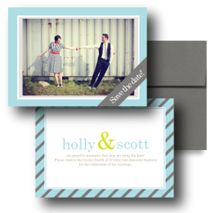 Pleasingly Preppy Save the Date + Envelope