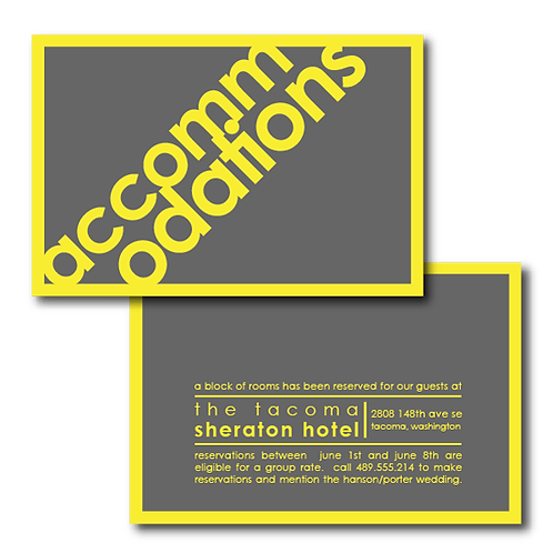 So Fresh and So Clean Accommodations / Info Card